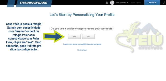 2 Tela TP - Tem algum relogio ou app com seu treinos regressos
