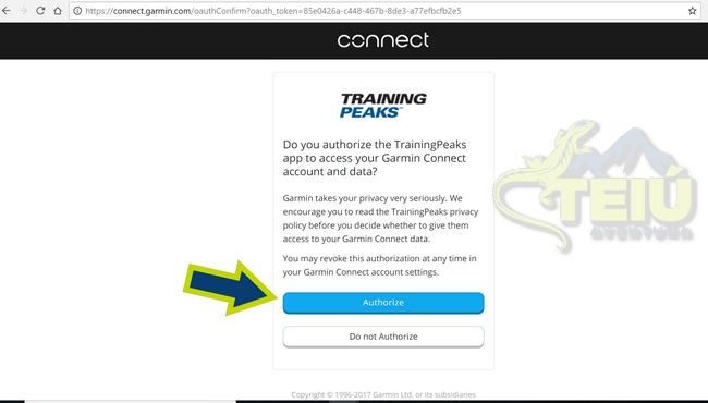 3.3 - Garmin Connect Authorize....