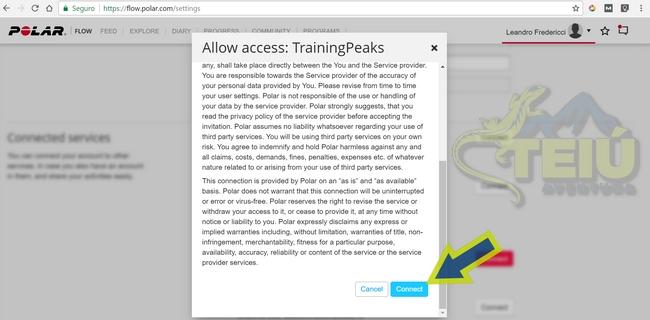 3.8 - Polar Flow - Training Peaks Connect - Allow