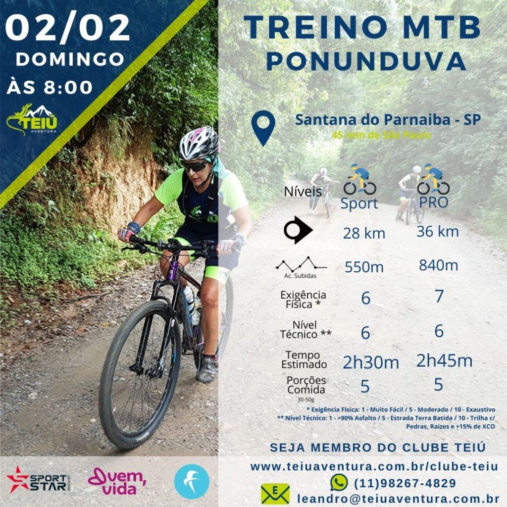 Ponunduva - Treino MTB Teiú @ Santana do Parnaiba - SP