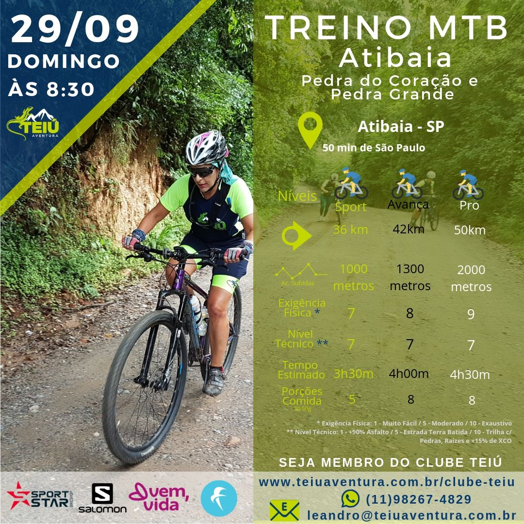 Treino MTB - Atibaia @ Atibaia - SP