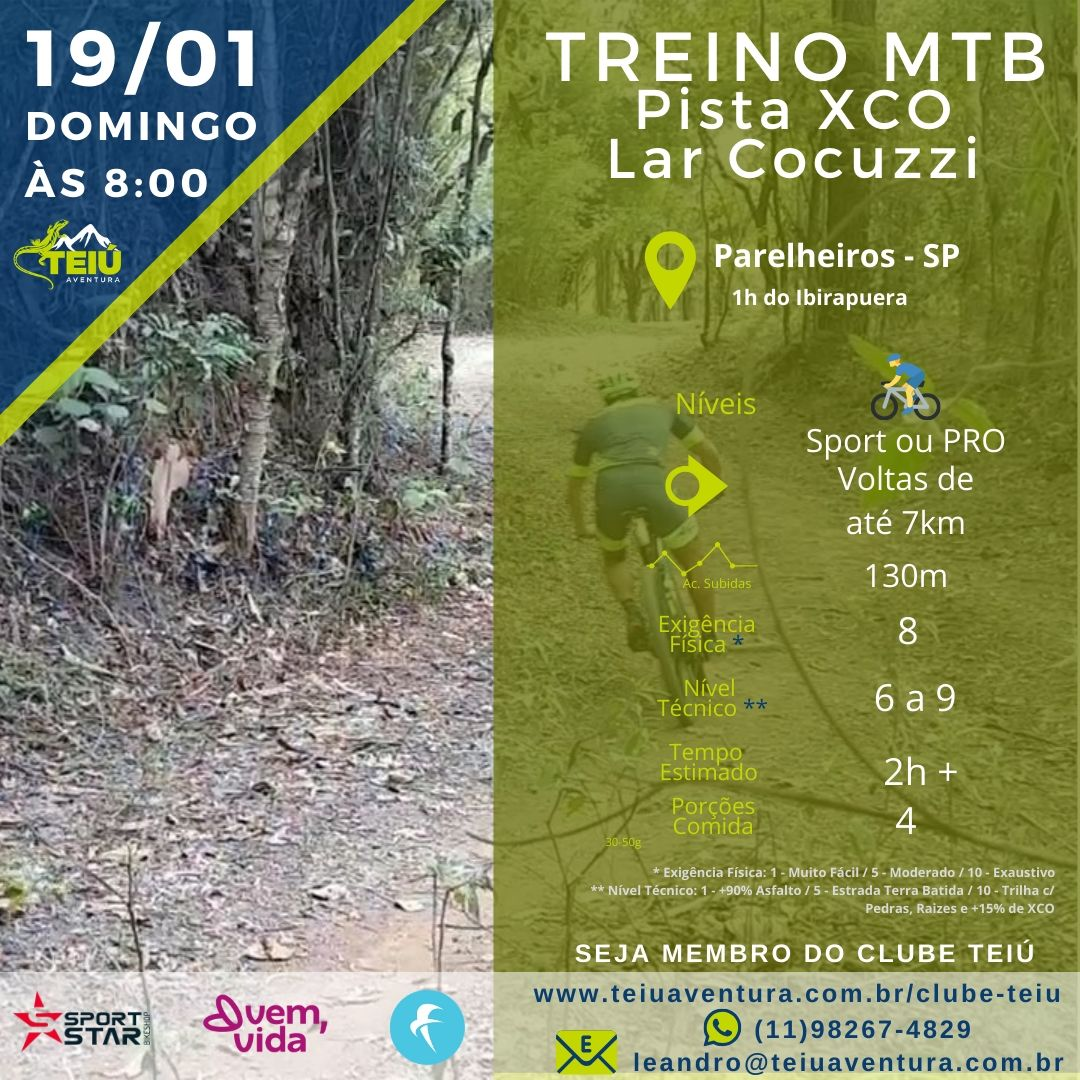 Treino-MTB-Lar-Cocuzzi Lar Cocuzzi - Treino MTB - Pista de XCO