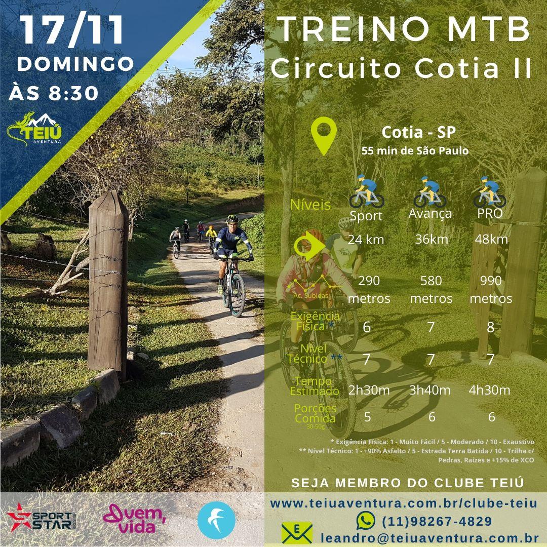 Treino MTB- Circuito Cotia II @ Cotia - SP