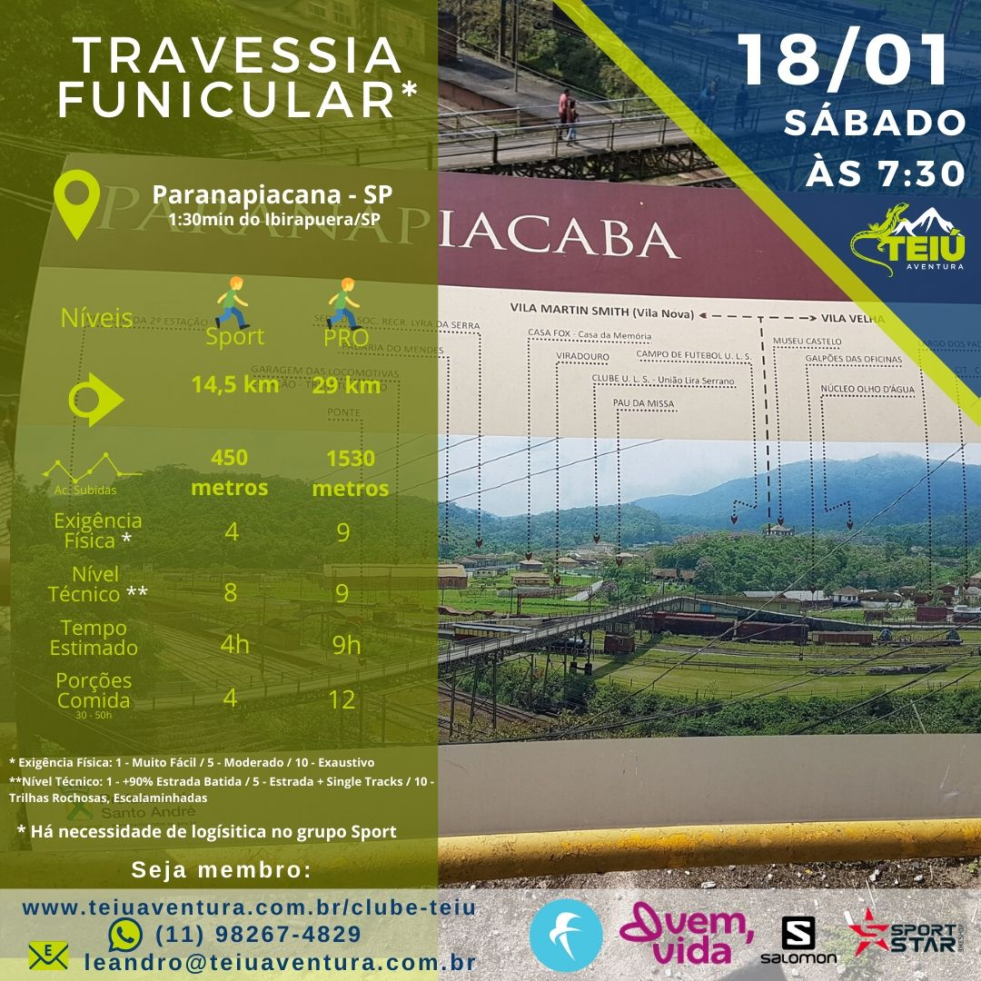 Travessia Funicular - Treino Trail @ Paranapiacaba - SP