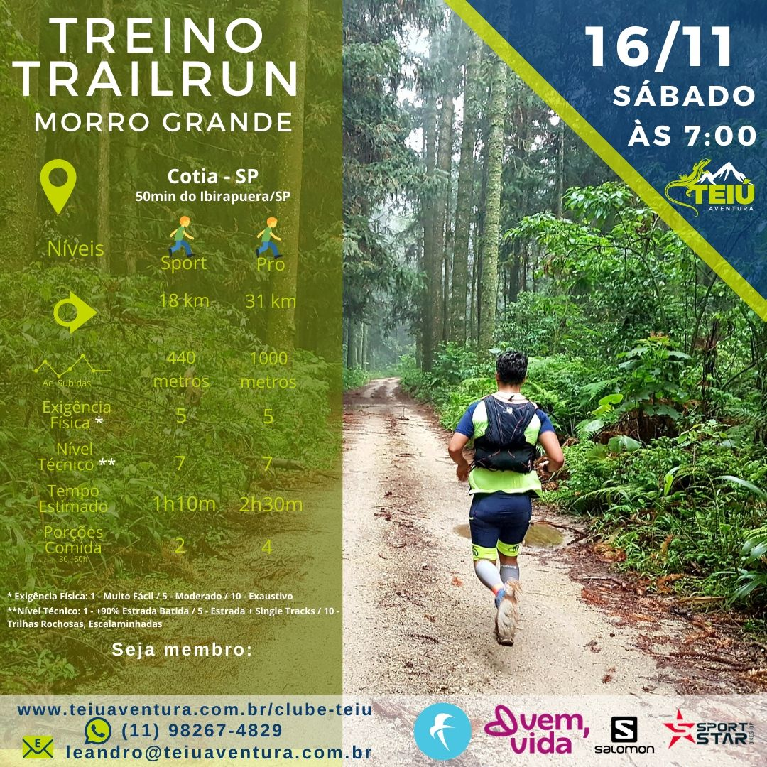Treino Trail Run - Morro Grande @ Cotia - SP