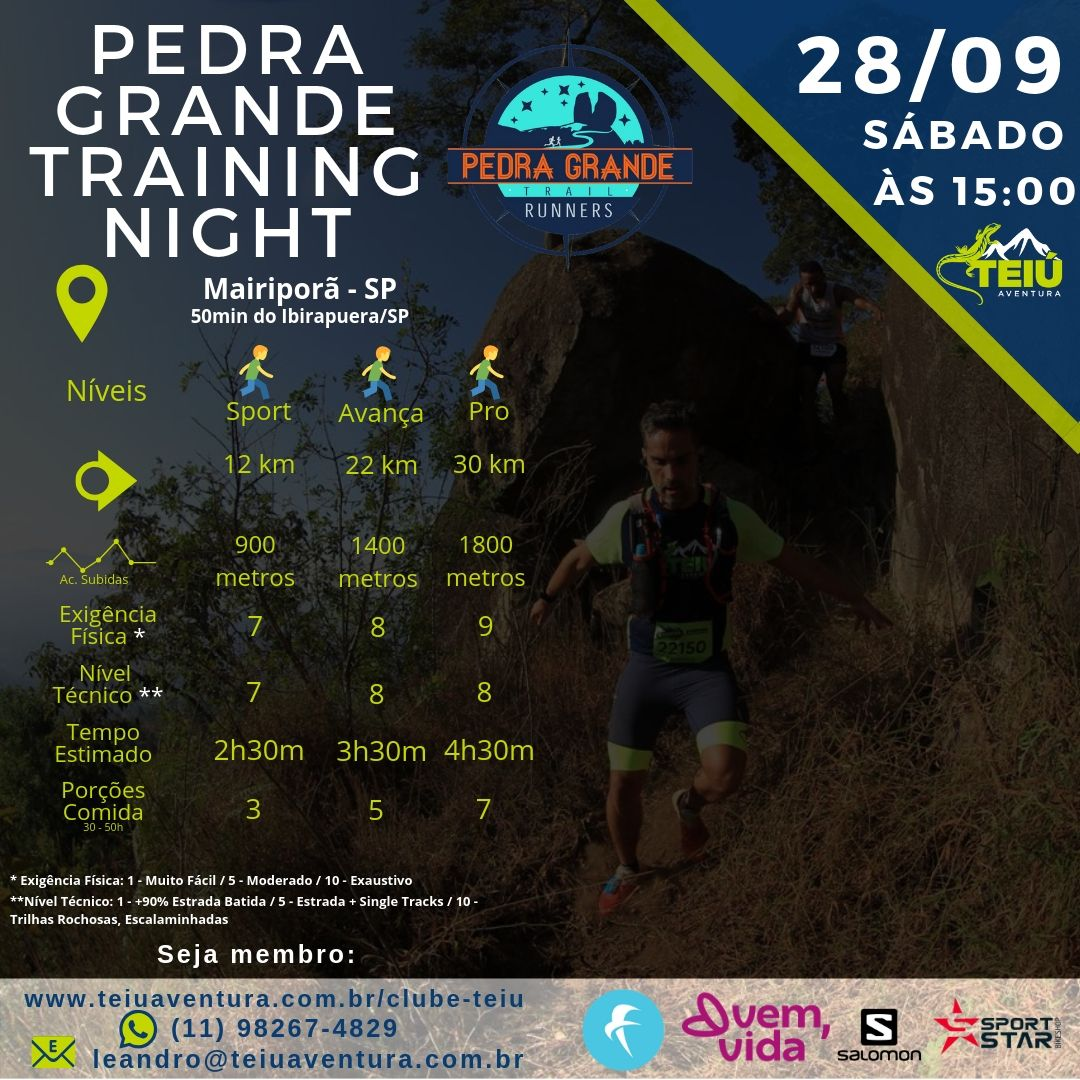 Treino-Trail-Teiu-Pedra-Grande-Night-28-09 Pedra Grande Training Night - Apoio de Prova / Treino